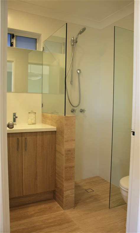 our very small ensuite renovation modern bathroom