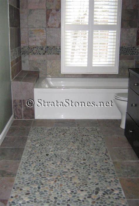 pebble surrounded  tile   bathroom loveeee