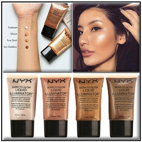 Nyx Illuminator pack of 4 nyx born to glow liquid illuminator code pb