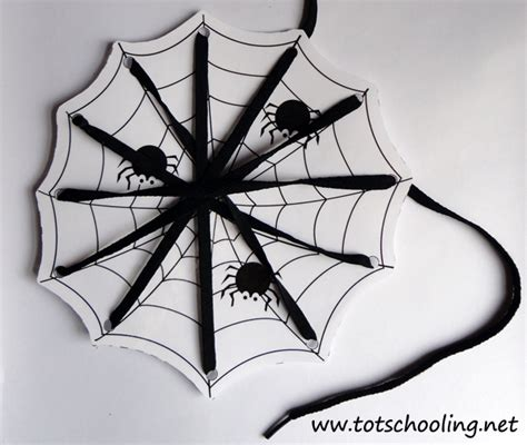 spider card template lacing cards totschooling toddler preschool