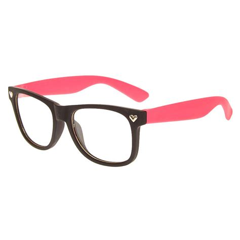Pink And Black Glasses black and pink rubber glasses s us