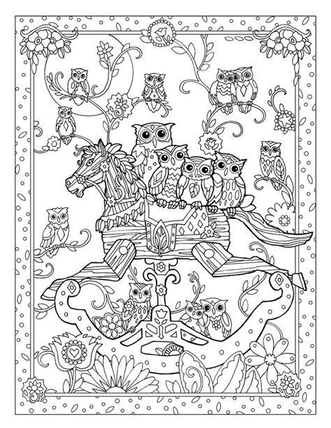coloring pages rocking horse 10 rocking horse owls flat jpg paper art pinterest