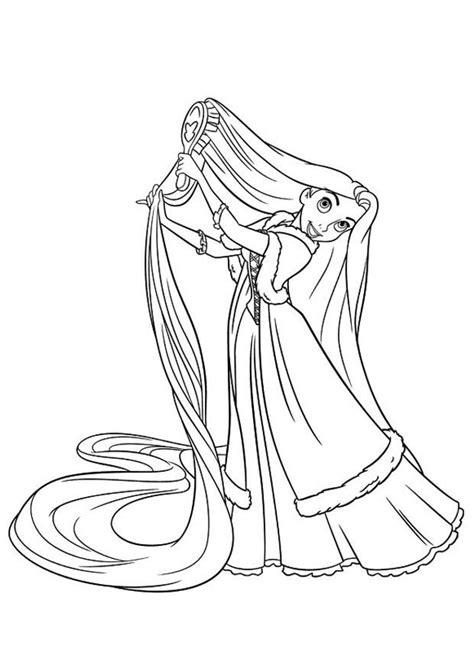 coloring pages of combing hair kleurplaat raponsje afb 20743