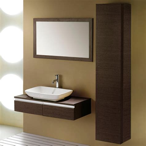 Zhi Wall Mount Console Vanity For Vessel Sink Bathroom Bathroom Sink Cabinet