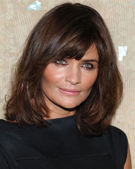 Hairstyles For 50 With Bangs And Hair by Medium Length Layered Hairstyles With Bangs For