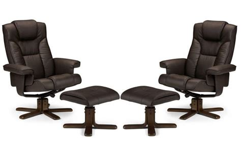 julian bowen malmo recliner and footstool black julian bowen malmo fully adjustable swivel recliner