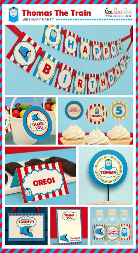 printable thomas the train party decorations choo choo thomas the train birthday party package