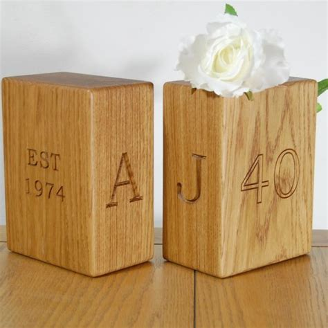 Handmade Wooden Bookends - wooden bookends personalised engraved wooden oak and