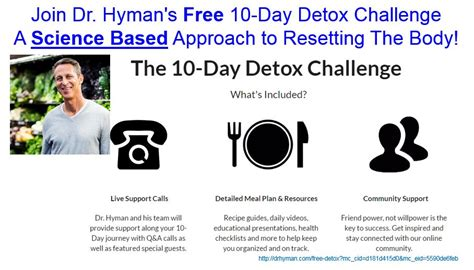 Dr Hyman Recipes Detox by Join Dr Hyman Free 10 Day Detox Challenge 187 Biome