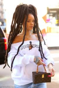 latest dread rihanna rocks new dreadlocks as she goes casual cool in