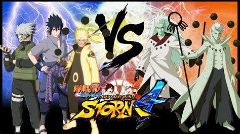 anime vs obito ultimate 4 sasuke kakashi
