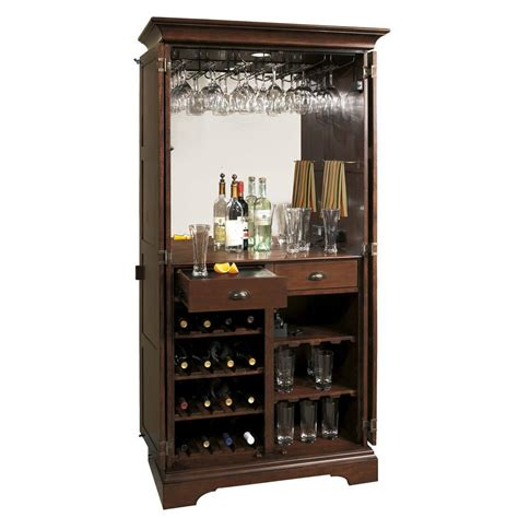 695110 ridgeville wine bar cabinet distress cherry store