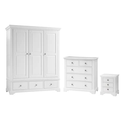 aspen white wardrobe bedroom set including free