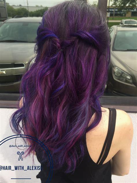 pravana magenta hair color pravana vivids purple blue and magenta hair with