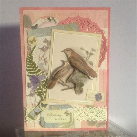 Handcrafted And Gallery - handmade birthday card made using the papermania nature s