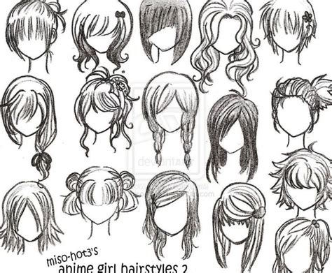 hairstyles for anime characters easy to draw emo hair 12how to draw anime girl