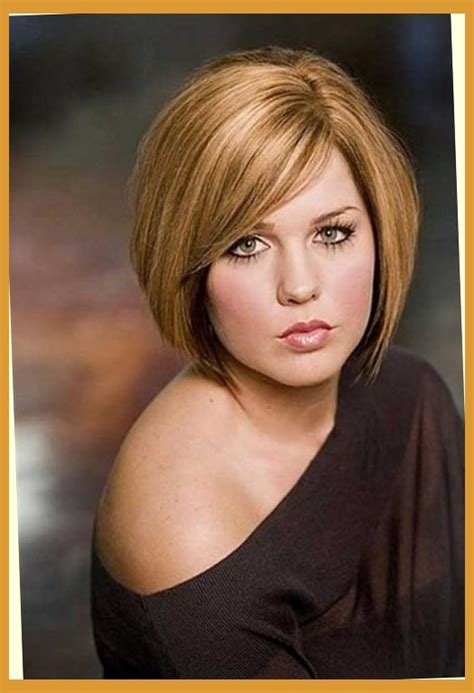 short haircuts for fat round faces hairstyles pictures