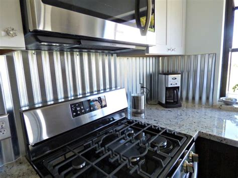 corrugated metal backsplash kitchen remodels