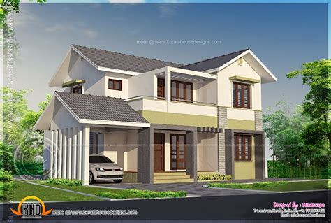 2000 square foot house elevation of 2000 square feet residence kerala home design and floor plans