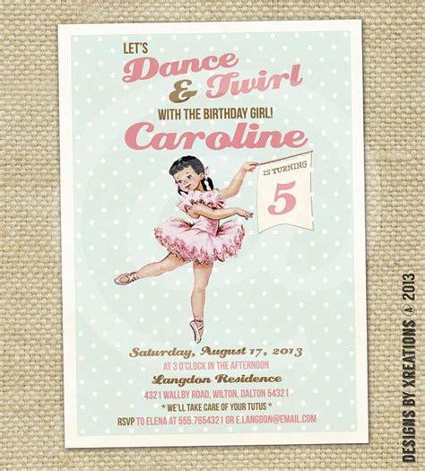 printable ballerina birthday invitations printable ballerina invitation diy customizable wordings