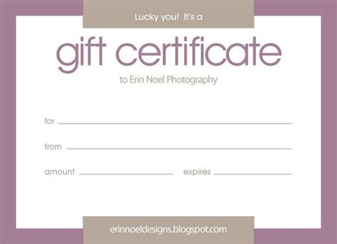 free downloadable gift certificate template gift certificate templates free