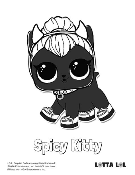 spicy kitty coloring page lotta lol kitty coloring