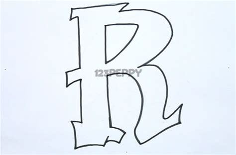 the letter r in graffiti