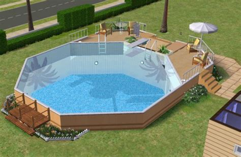 above ground pool side table mod the sims how to make an above ground pool
