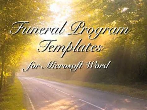 powerpoint memorial template free funeral program template