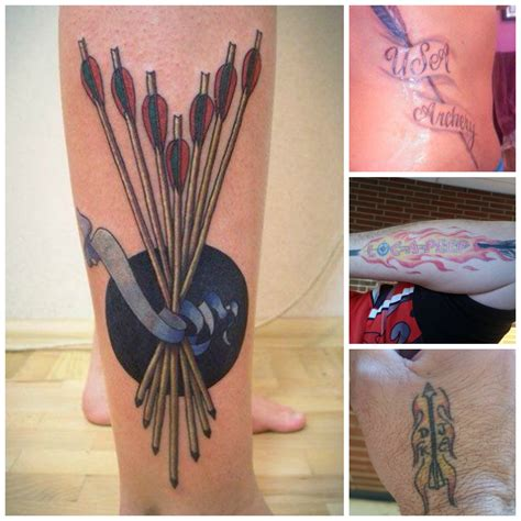 archery tattoos bow and arrow ink