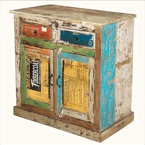 Fish Tank Sideboard distressed reclaimed wood storage drawer sideboard cabinet server painted buffet fish tank