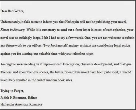 Rejection Letter Editor Foreigncorrespondent Dealing With Rejection Letters From Agents Publishers