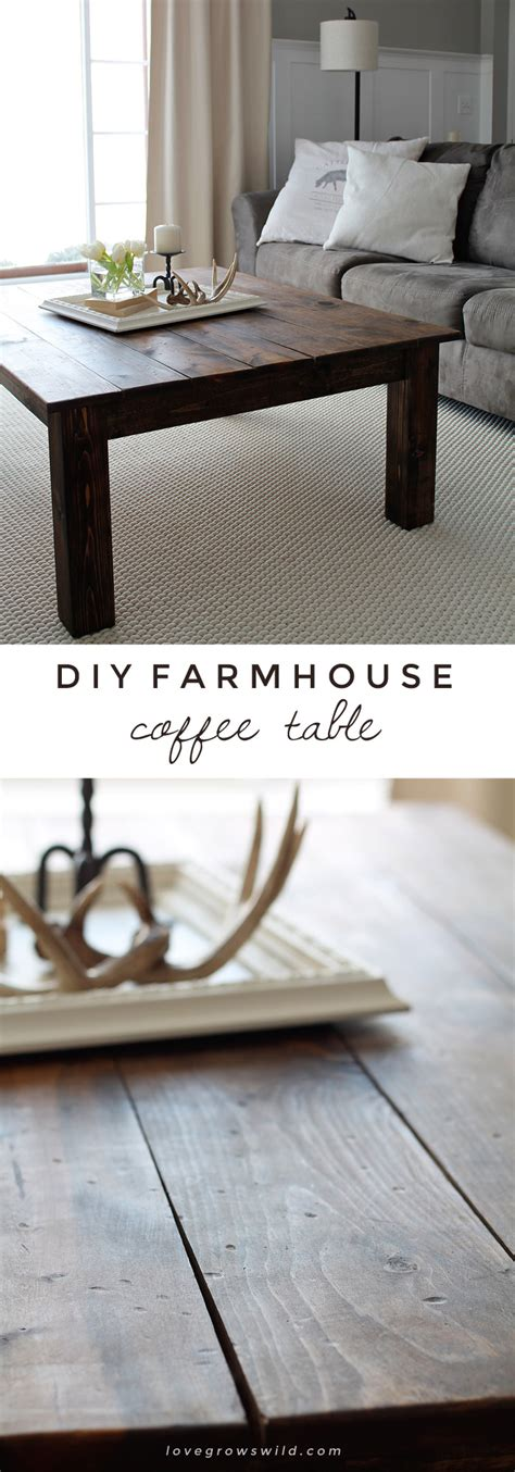 how to make a large table diy farmhouse coffee table love grows wild