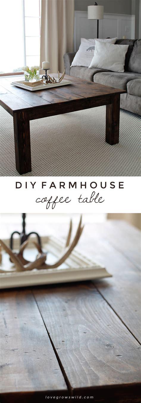 Diy Farmhouse Coffee Table Love Grows Wild Diy Farmhouse Coffee Table