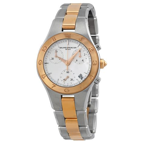 baume and mercier linea gold chronograph