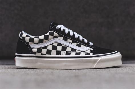 pattern old skool vans vans old skool 36 dx black checkerboard sneakerfiles