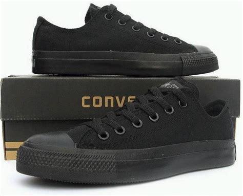 jual sepatu converse all hitam grade ori