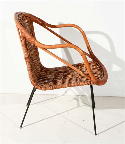 Rattan Armchairs by Pair Of Rattan Armchairs At 1stdibs
