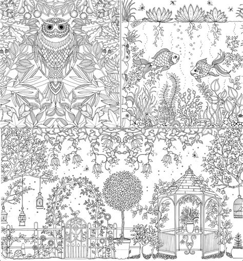 The Secret Garden Coloring Book secret garden an inky treasure hunt and colouring book