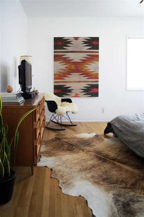 cowhide rug bedroom 1000 ideas about cow rug on pinterest cow hide cowhide