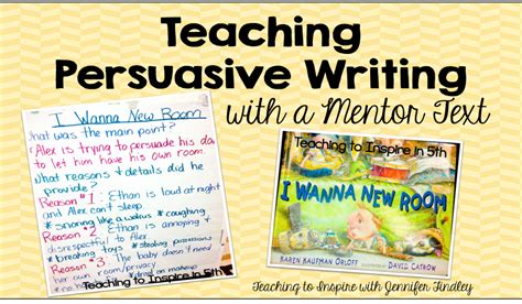 Teaching Persuasive Essay Writing by Teaching Persuasive Writing With A Mentor Text Teaching To Inspire With Findley