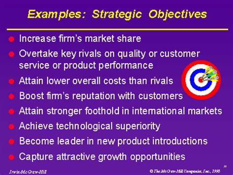 examples strategic objectives
