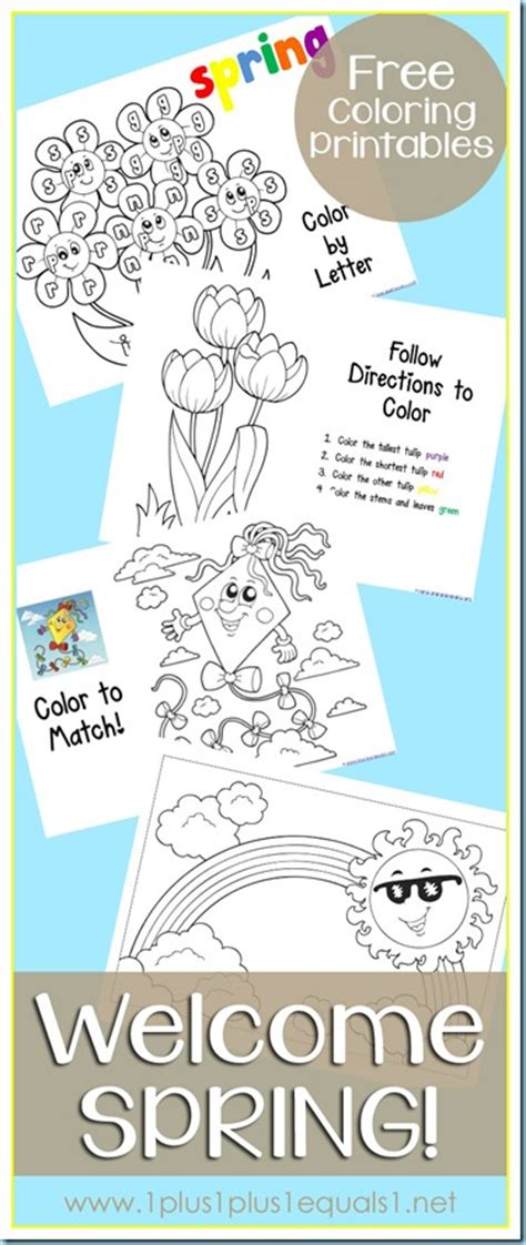 free spring coloring printables from 1 1 1 1 free