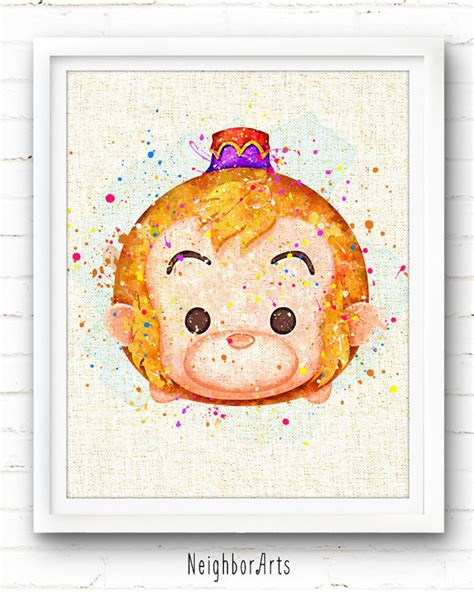 Piyama Katun Tsum Tsum Watercolor disney prints abu print tsum tsum watercolor