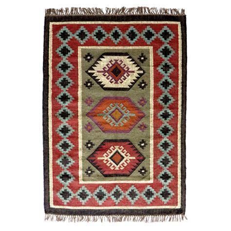 Tapis A tapis kilim en et jute sanjoli by drawer