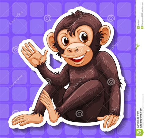 Happy Monkey Blue monkey stock illustration image 54331022