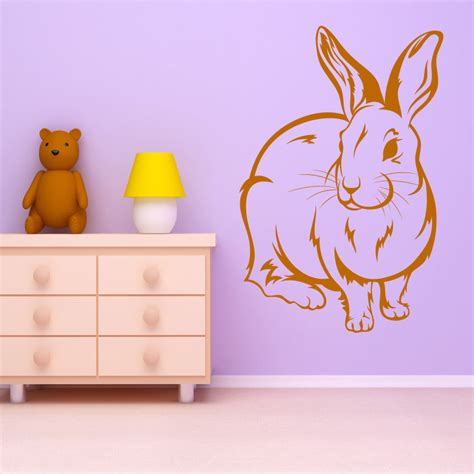 rabbit wall stickers bunny rabbit animal wall decal wall stickers transfers ebay