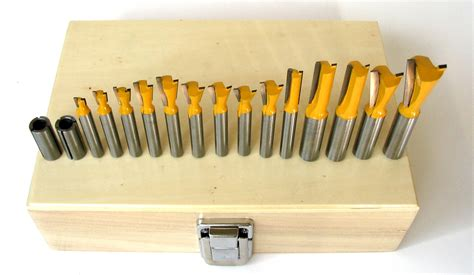 16 Pc 8mm Shank Dovetail Router Bit Set For Leigh Jig Ebay