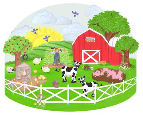 Farmyard Wall Stickers create a mural barnyard wall sticker kids wall decor store