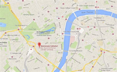 map of westminster westminster cathedral on map of